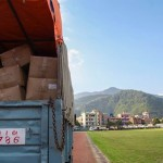 Aid on its way to it's destination in Nepal.