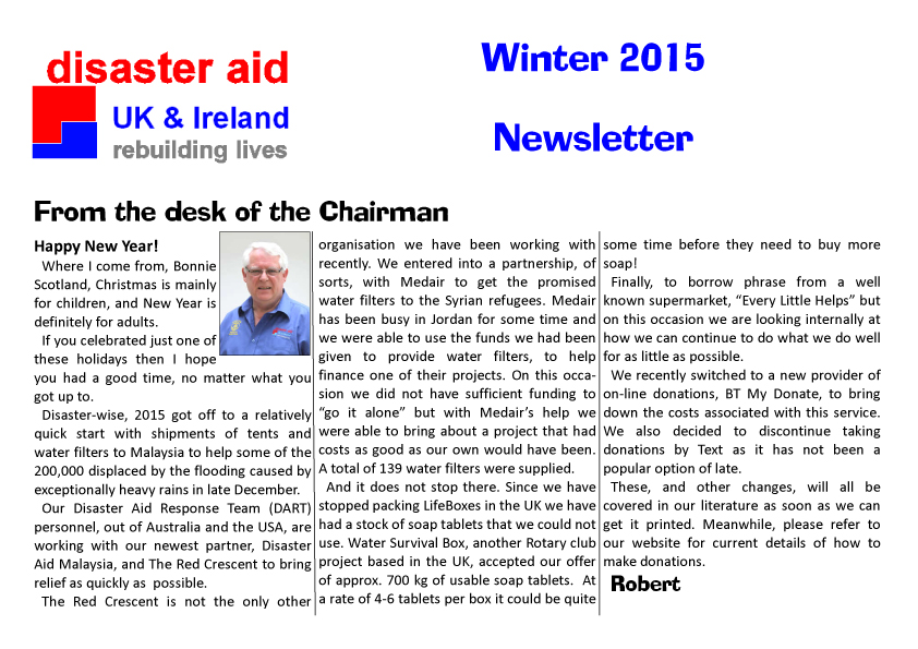 Newsletter Winter 20151