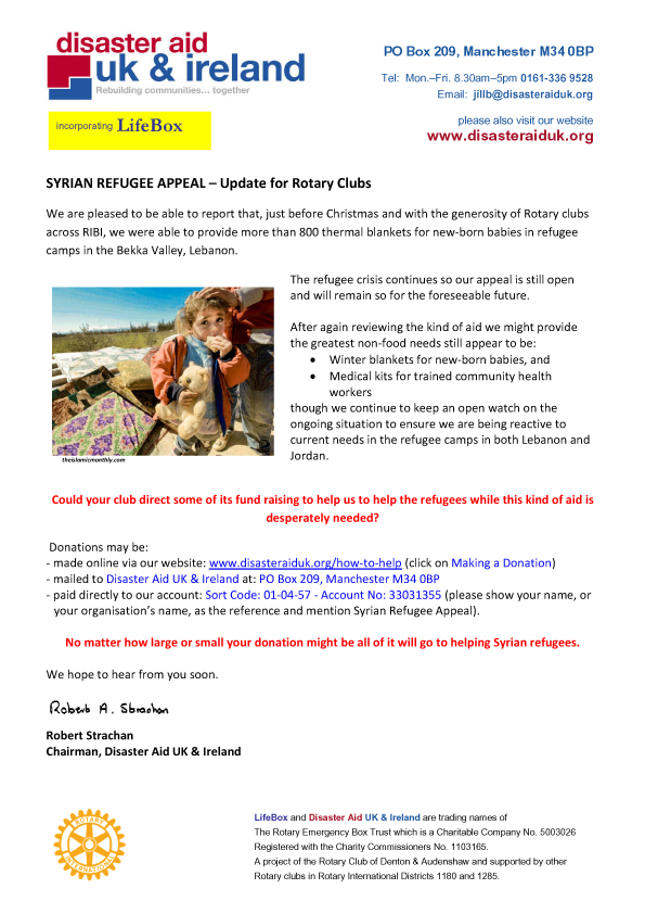 Syrian Refugee Appeal - Update copy
